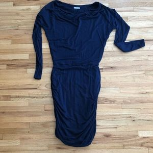 Athleta Solstice Cowl Navy Dress size Small